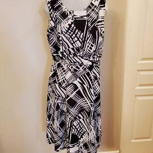 Cleo Black White Dress Sz 14